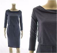 ex M&S Marks & Spencer Jersey Casual Drawstring Cowl Neck Dress