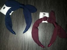 2 Justice knot HEADBAND new navy & burgundy