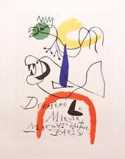 "JOAN MIRO mounted Mourlot lithograph 1959 Affiches Originales 14 x 11"" AO52"