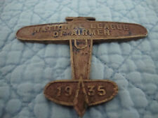1936 National League of Airman Bronze Souvenir