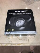 BOSE QC15 Acoustic Noise Cancelling Headphones for iPhone, iPad, iPod