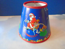 """SANTA ON SLEIGH CHRISTMAS EVE, DELIVERING GIFTS """"CLIP ON LAMP SHADE"""" 4"""" HIGH NEW"""