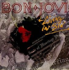 "AS NEW! BON JOVI LIVING IN SIN 1989 UK 12"" vinyl single EXCELLENT"