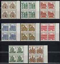 1 Satz Briefmarken Viererblock Berlin Nr. 242-249 xx Bauten Rechter Rand # 916