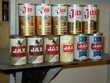 11 Dif Jax Beer Cans 4=Flat tops Og- Nm No Holes