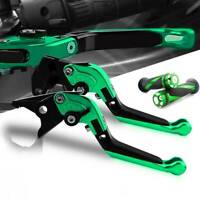 For Kawasaki Pivot Motorbike Brake Clutch Levers and Grip For ZX10R 2006-2015 GN