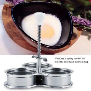 3-Grids Egg Poacher Steamer Cooking Pan Stainless Steel Microwave Egg Boiler