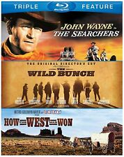 HOW THE WEST WAS WON / SEARCHERS / WILD BUNCH   -  Blu Ray - Sealed Region free