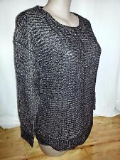Crossroads Black neutral gold sequin sparkle CHUNKY winter JUMPER sweater TOP 22