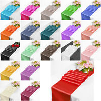 "12""x108"" Satin Table Cloth Runners Chair Swags Wedding Party Catering Decoration"