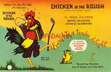 "$100.00 CASH TO ANYONE WHO EATS AT 25 ""CHICKEN IN THE ROUGH"" RESTAURANTS 1958"