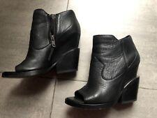 Stivaletti neri pelle ASH black leather ankle boots EU37 - UK4