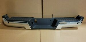 New Take Off 2017-2022 Ford Super Duty Chrome Rear Bumper with Sensor Holes