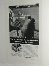1934 Kodak advertisement, Eastman Kodak Cine-Kodak K model movie camera