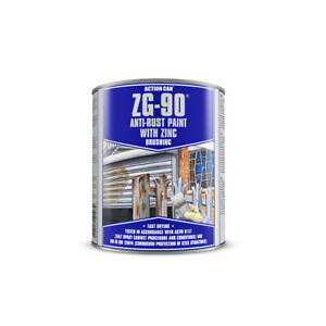 Action Can ZG-90 Silver Cold Zinc Galvanising Brushable Paint Anti Rust 900ml