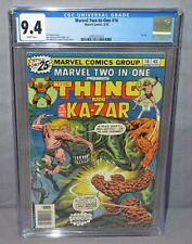 MARVEL TWO-IN-ONE #16 (Ka-Zar, Thing Cover) CGC 9.4 NM White Pages 1976