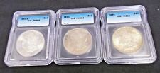 (3) DIFFERENT DATE ICG MS64 MORGAN SILVER DOLLARS - 1881-S,1896,& 1921 (2213NAM)