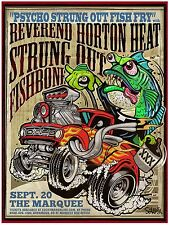 "REVEREND HORTON HEAT ""FISH FRY"" 2017 PHOENIX CONCERT TOUR POSTER - Psychobilly"