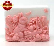 EASTER BUNNY BASKET SOAP BAR HANDMADE ALL NATURAL MOISTURIZING BODY & SKIN
