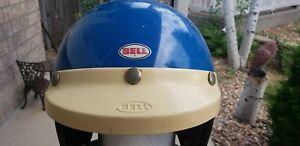 Vintage Bell RT R-T Motorcycle Motocross Helmet Blue Size 7 1/4