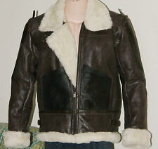 Men's B3 BOMBER JACKET LEATHER SHEARLING USAAF FLIGHT WWII COAT /BrownBJ6