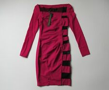 NWT Catherine Malandrino Black Label Psycho Hot Pink Stretch Wool Dress 0 $590