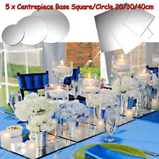 1 | 5 Round Square Mirror Candle Plate Cake Wedding Centrepiece Base 20/30/40cm