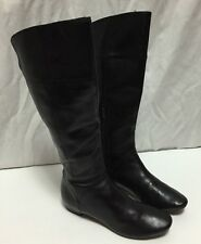 Kenneth Cole Reaction Black Knee High Fashion Riding Boots Women's 6 Flats