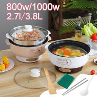 1000W Electric Cooker Heating Pan Food Cooking Pot Hotpot Noodles Soup Steamer