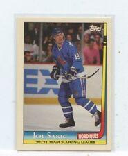 JOE SAKIC 1991-92 Topps Team Scoring Leaders Nordiques  #8