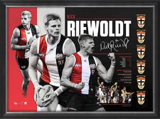 Nick Riewoldt Signed St Kilda Retirement AFL Official Print Framed IN STOCK NOW