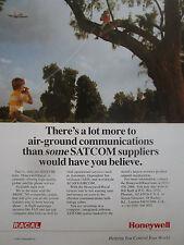 1991-1992 PUB HONEYWELL RACAL AIR GROUND COMMUNICATIONS SATCOM ARINC ORIGINAL AD