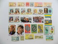Great Britain Coll'n of mint commemorative stamps 7-Gb-All St. Lucia-incl 501-02