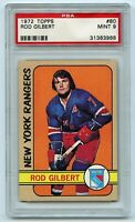 1972-73 Topps #80 Rod Gilbert HOF Graded 9.0 MINT (2021-18)