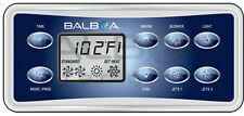 Balboa VL801D topside keypad Overlay, 8 button display panel work with GS523