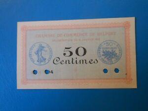 90 Belfort chambre de commerce 50 centimes 6-1-1916 SPECIMEN série 104 non vue