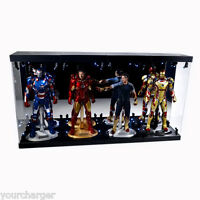 """MB-4 Acrylic Display Case LED Light Box for four 12"""" 1/6th Scale IRON MAN Figure"""