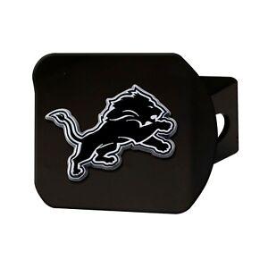 Fanmats NFL Detroit Lions 3D Chrome on Black Metal Hitch Cover Delivery 2-4 Days