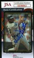 Willie Horton 1992 Action Packed Jsa Coa Hand Signed Authentic Autograph