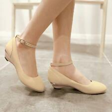 Cute Women's Pumps Ankle StrapCourt Wedge Heel Dating Low Mary Janes Shoes 2020
