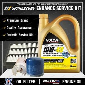 Wesfil Oil Air Fuel Filter+ 10W40 Oil Service Kit for Mitsubishi Pajero NM NP V6