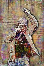 Adam Duritz Of Counting Crows 12x18in Poster, Adam Durtiz Tribute Free Shipping