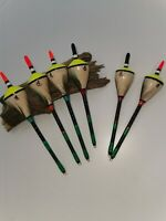 Handmade Perch Bobber Fishing Floats Vintage Traditional. Set of 6