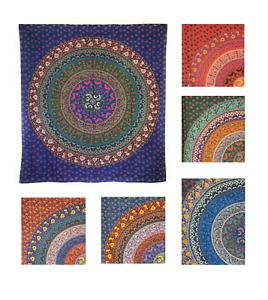 Indische Decke Tagesdecke Wandbehang Überwurf Dekoration 235 x 205 cm Mandala 03
