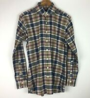 Proper Cloth Men's Size Medium Long Sleeve Plaid Multicolor Shirt Front Button