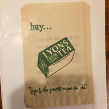 Vintage Lyons Irish Ireland Advertising Tea Bag