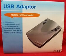TELBOX USB TO RJ11 CONVERTER New w/ INSTALLER DISK, CABLE AND MANUAL - FAST SHIP