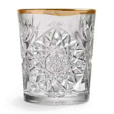 Libbey Whiskyglas Hobstar wellenförmiger Goldrand