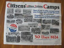 1924 Citizens Military Training Camp Poster National Defense CMTC