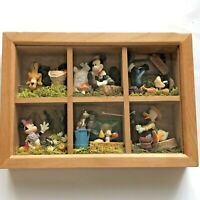 Disney Mickey Mouse & Friends Framed Miniature Figure Diorama Rare